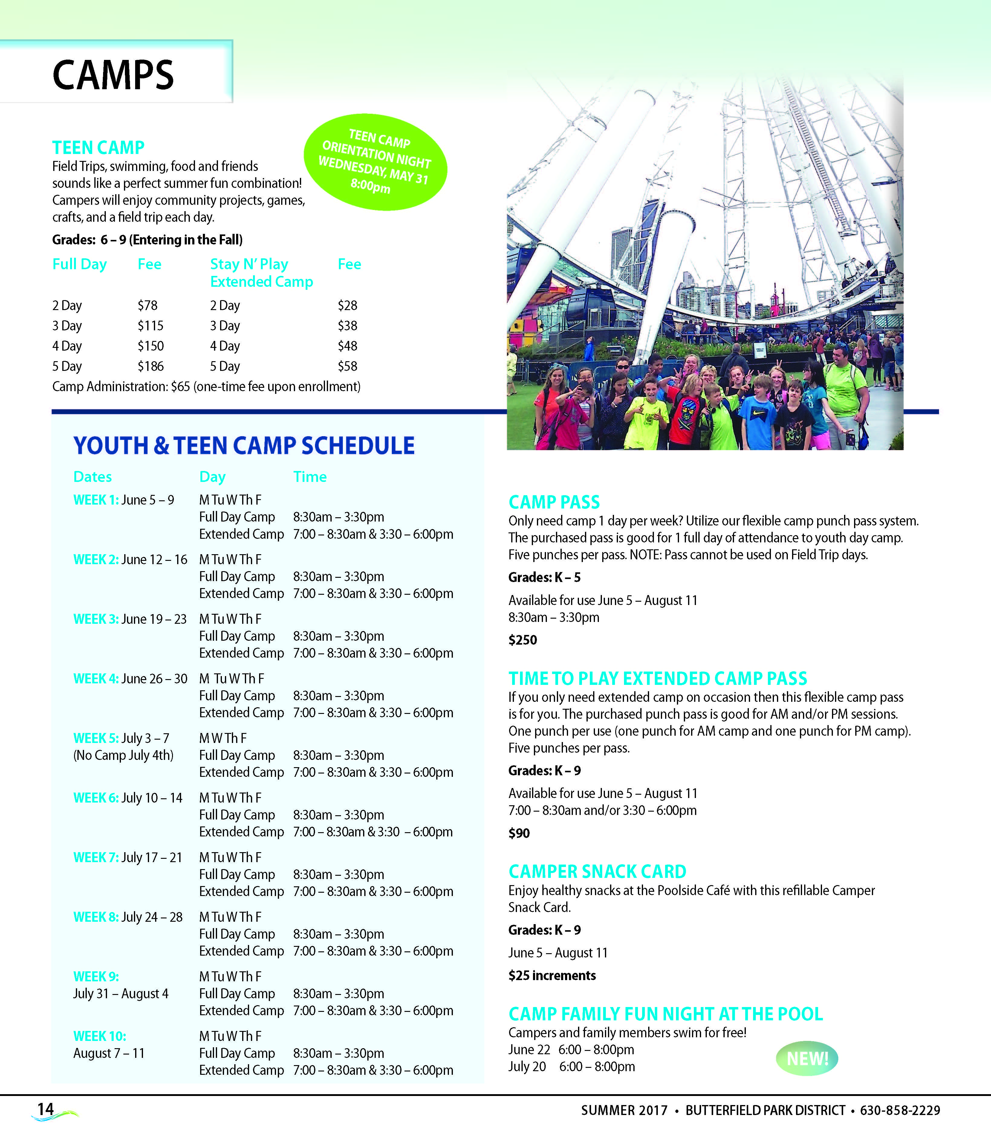17 18 camps3 schedule teen